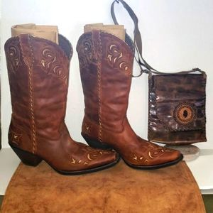 Durango Leather Western Boots Brown